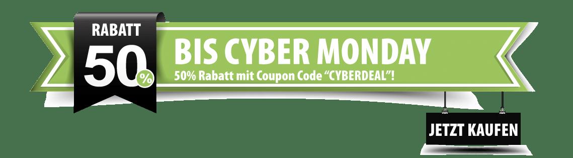50% Rabatt zum Cyper Mondy - Nutze den Rabattcode