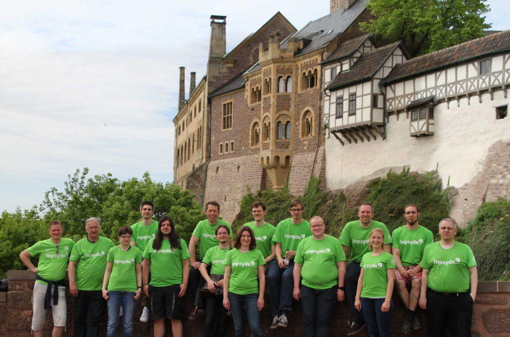Inpsyde Teamfoto auf der Teamfreizeit in Eisenach