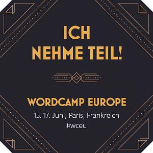 WordCamp Europe Paris 2017 - Inpsyde ist dabei!