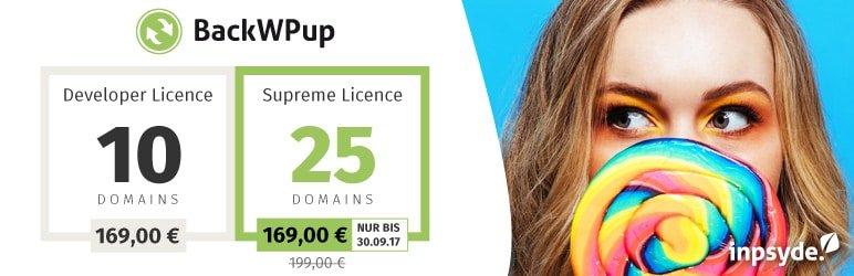Neu: Die BackWPup Pro Supreme Lizenz.