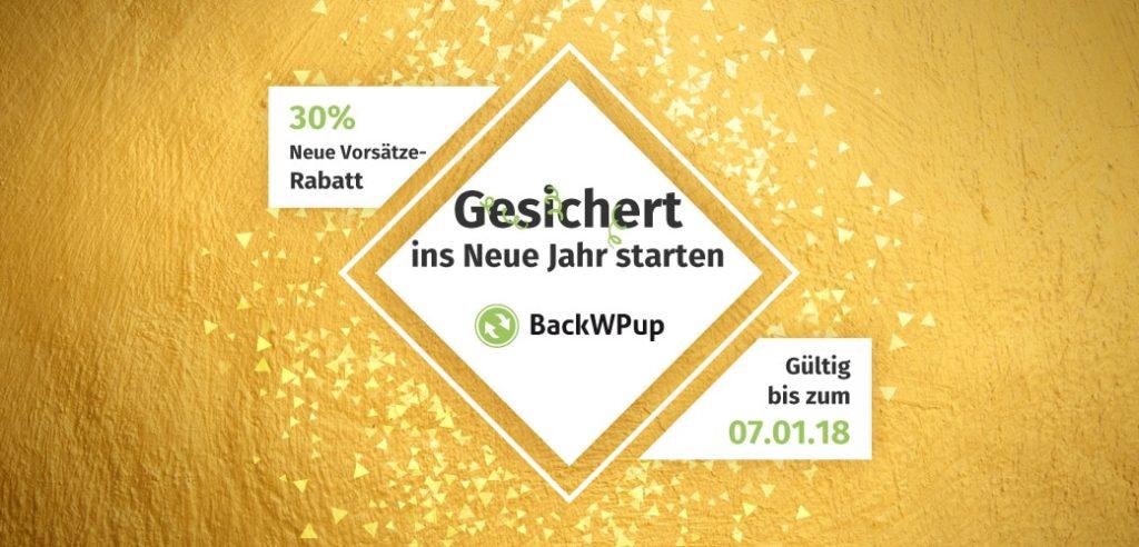 BackWPup PRO 30% Aufräumrabatt sichern