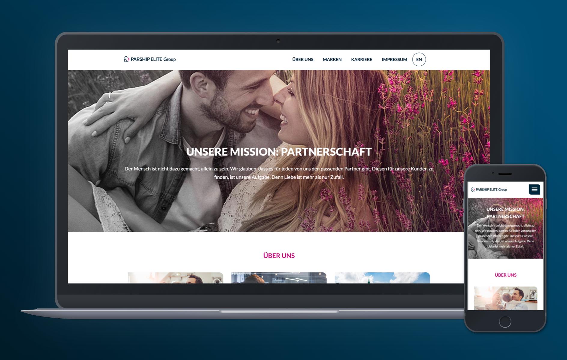Der Relaunch für Parship ist ein WordPress Multisite Beispiel.