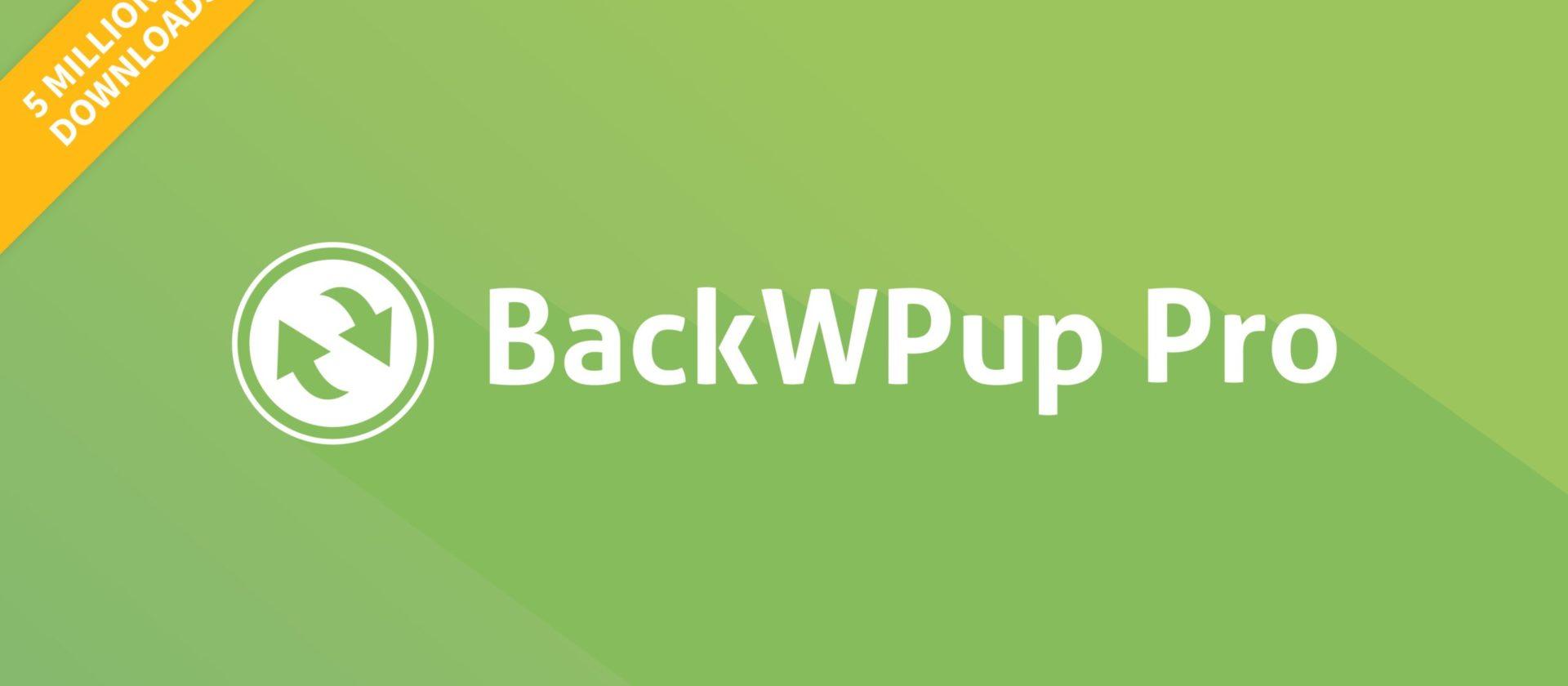 BackWPup 5 Millionen Downloads. Es gibt 50 % Rabatt auf das WordPress Backup Plugin.