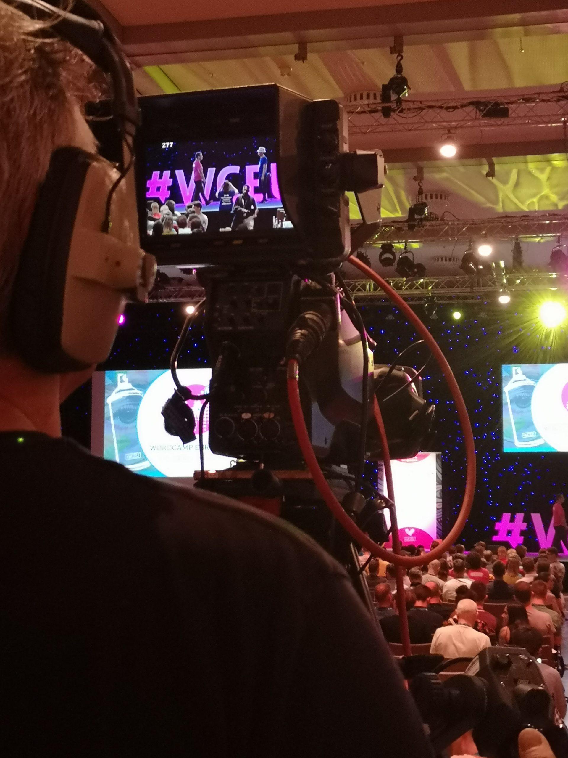 Blick aus Perspektive des Kameramanns WordCamp EU