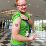Daniel Huesken mit WordPress Herz Tattoo