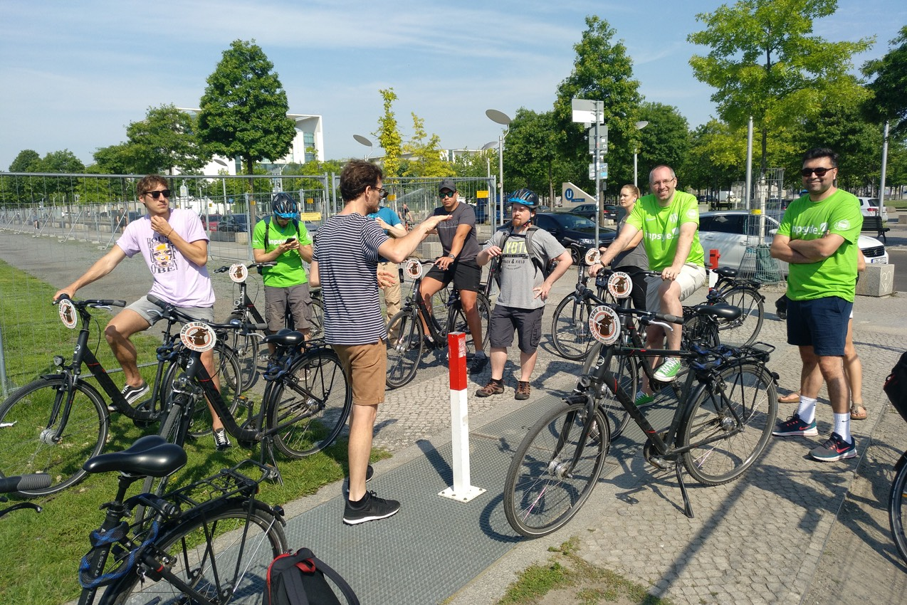 Bike Tour through Berlin at the Inpsyde Teammeeting 2019