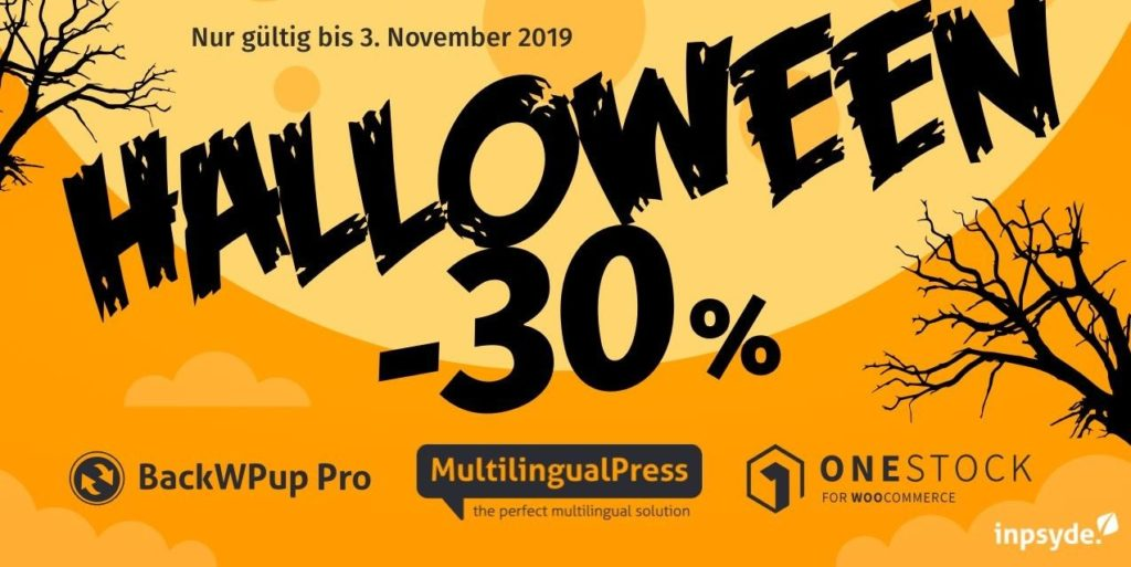 30% Rabatt auf BackWPup, MultilingualPress und OneStock for WooCommerce