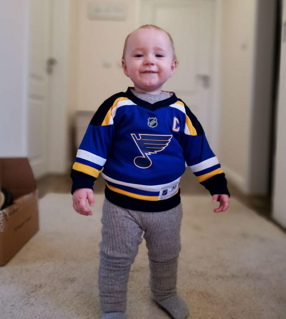Inpsyde Baby im Trikot der St. Louis Blues
