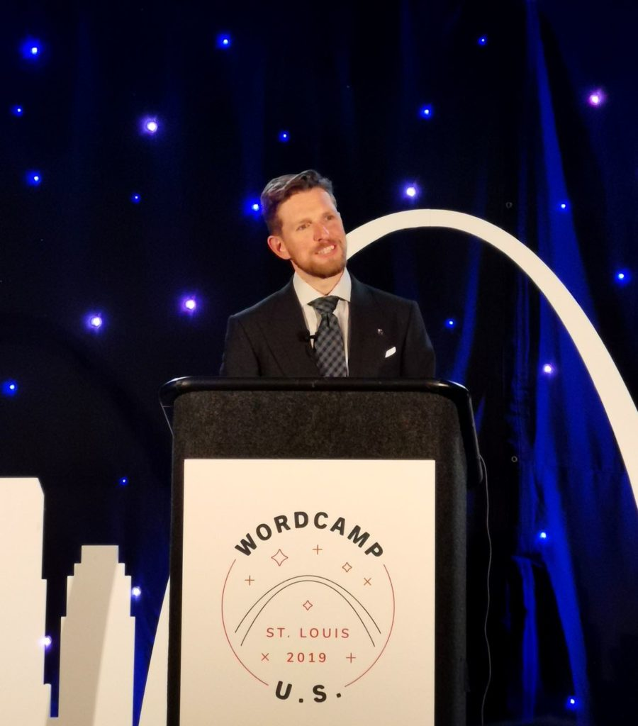 Matt Mullenweg at WordCamp US 2019