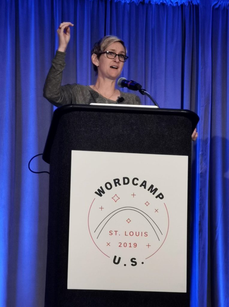 Kori Ashton at WordCamp US 2019