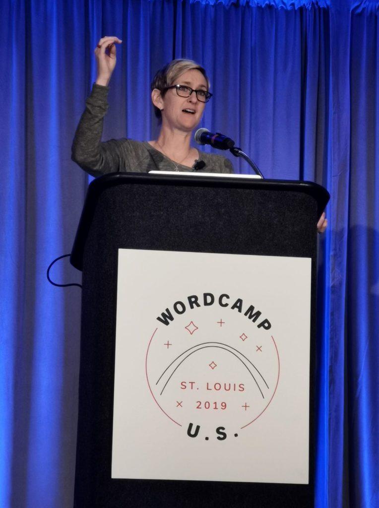 Kori Ashton auf dem WordCamp US 2019