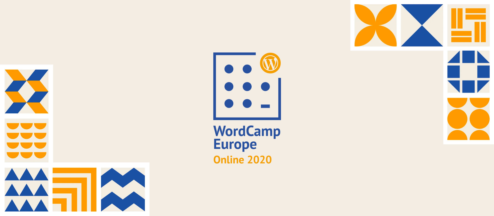 WordCamp Europe Online 2020 Header mit WCEU-Logo