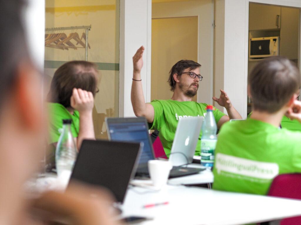 Inpsyde-Experten für WordPress Entwicklung im Workshop