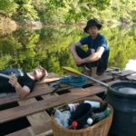Inpsyde team retreat: rafting on a river