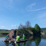 Inpsyder enjoying team retreat on the river