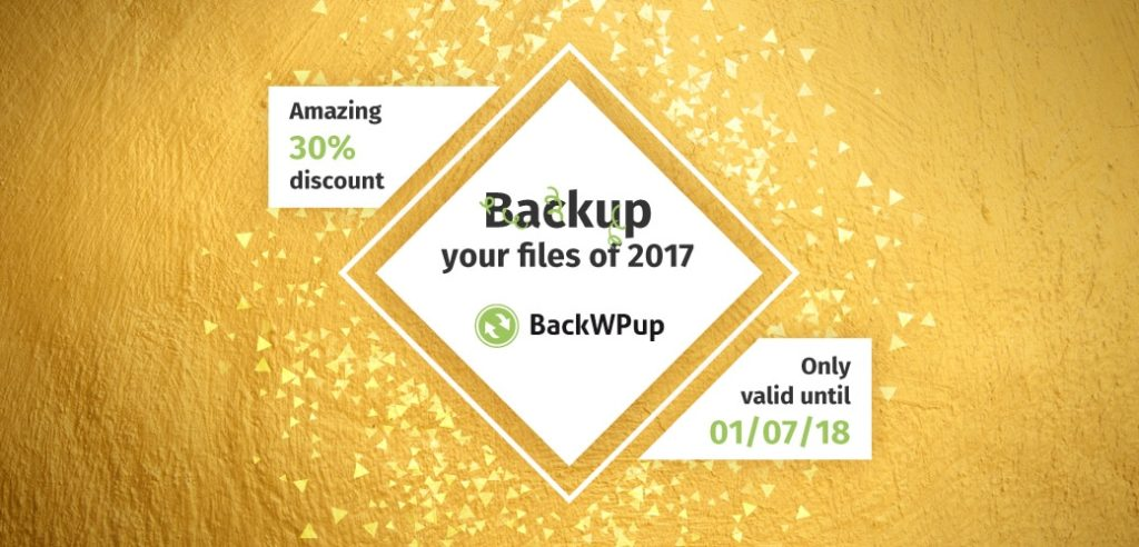 30% BackWPup PRO clean up discount