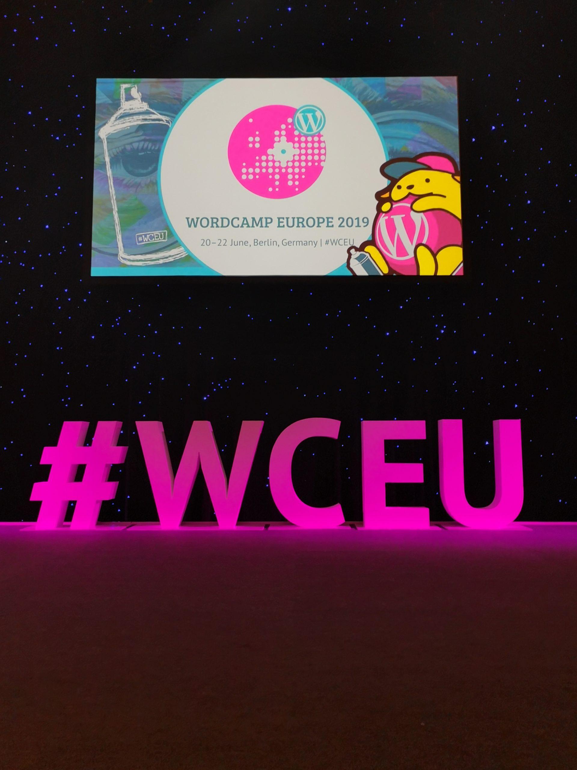 WCEU Hashtag Logo and Wapuu