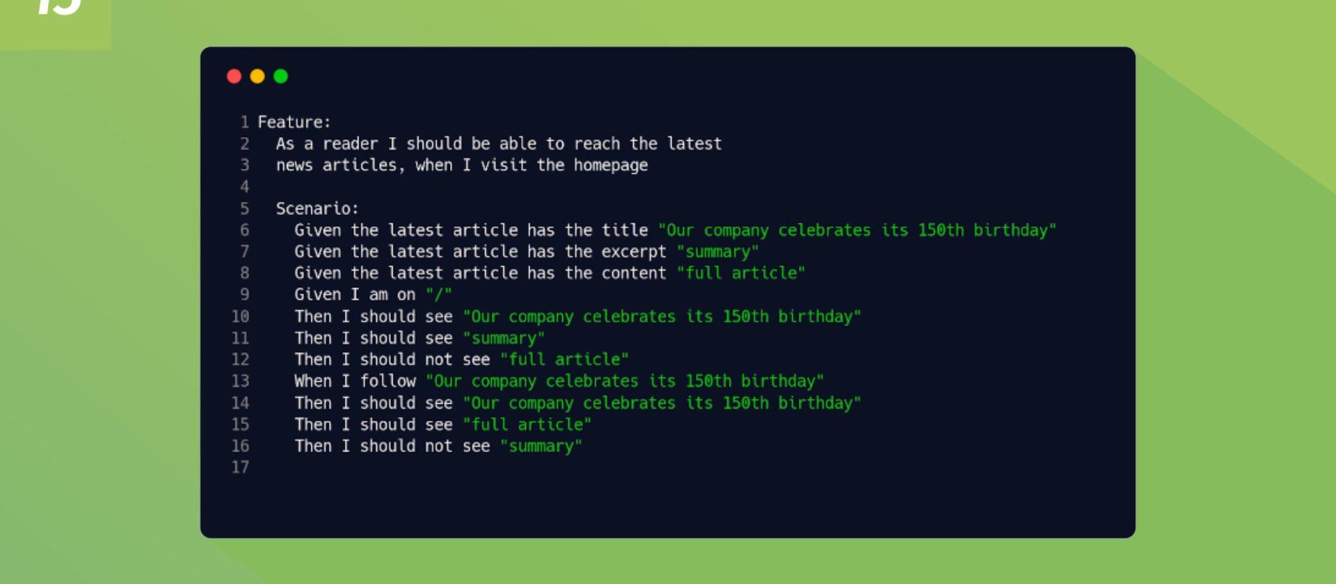 Besucher sind keine Betatester – Automatisierte Akzeptanztests