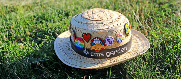 Robert's hat lying in the grass