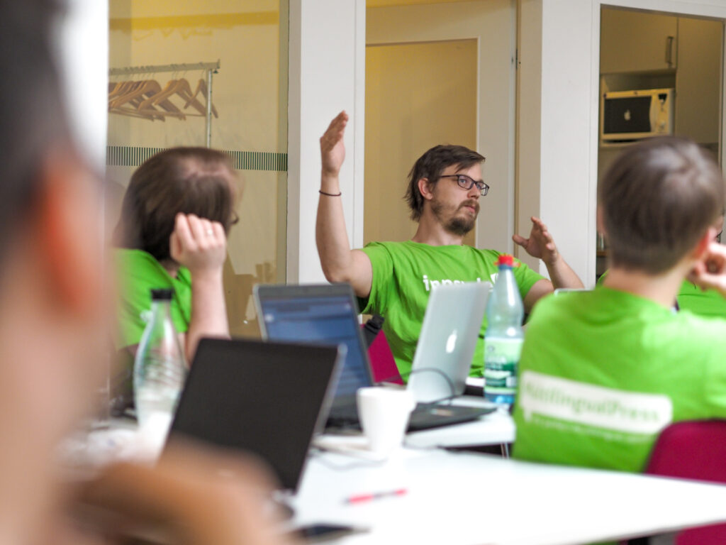 Inpsyde Experts for WordPress Development in a Workshop